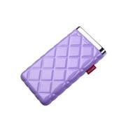 灵骁 迷你苹果6充电宝5s/4s 三星小米苹果移动电源 安卓手机通用 聚合物电芯 浅紫色 7000毫安