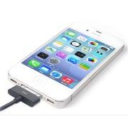 Snowkids 苹果MFi认证 30pin接口充电数据线 1米版 黑色