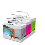 飞狗 2.0 时尚创意音箱音乐台灯鱼缸增氧水循环 随心所欲的FM收音 蓝牙连接 精美小巧 苹果绿