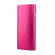 彩虹的梦 移动电源13000毫安金属移动电源 超智能小巧超薄 苹果小米三星手机 玫瑰红 标配+USB充电头