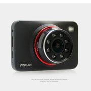 万年船 行车记录仪器WNC68车载高清1080P超广角红外夜视汽车停车监控 双镜头+降压线