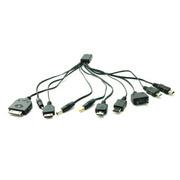 石家垫 【货到付款】 10种充电接头 手机 USB充电器 车载充电器 万能充 黑色