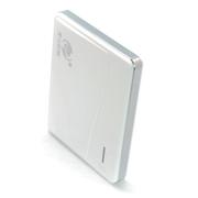 E-LONG 移动电源6600mAh双USB手机充电宝苹果三星小米iphone6通用充电宝 白色
