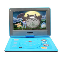 金正 便携式移动DVD 6015蓝色 13寸高清视频播放器EVD影碟机VCD带迷你小电视14产品图片主图
