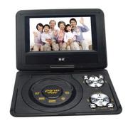 金正 移动电视DVD 7寸高清便携式播放器3D游戏evd影碟机带电视270度旋转 722黑