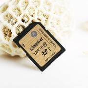 金士顿 128GB UHS-I Class10 SD高速存储卡(读速90Mb/s)土豪金