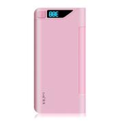 leik 正品手机超薄锂聚合物电池移动电源13000mah毫安移动电源苹果移动充电宝移动充 粉红色