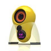 本手 X5 2.0外星人多媒体迷你单体小音箱 带logo七彩呼吸灯 黄色