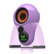 本手 X5 2.0外星人多媒体迷你单体小音箱 带logo七彩呼吸灯 紫色