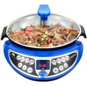 多尔玛 自动炒菜机CC2 家用多功能智能烹饪锅 电炒锅电煮锅炒菜机器人(蓝色)