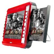先科 10.2寸高清看戏机 老人唱戏机 便携式移动DVD/EVD 全格式视频机 富贵红 标配加8GTF卡