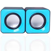 本手 F0 笔记本台式电脑音响 多媒体迷你便携式USB2.0小音箱 蓝色