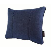 马迪奥 亚麻汽车腰靠 办公靠垫 腰垫 M-蓝色产品图片主图