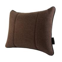 马迪奥 亚麻汽车腰靠 办公靠垫 腰垫 M-咖啡色产品图片主图