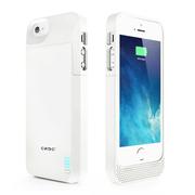 CRDC 苹果原装MFI认证背夹电池 移动电源充电宝 无线充 适用于iPhone5/5S 手机不能贴后膜 CRA5S-10 白色
