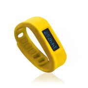 喜越 D2健康运动智能手环睡眠监测计步器安卓苹果蓝牙手镯 黄色2.1版本