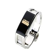 爱随 D8金属智能穿戴手表蓝牙手环手镯接听电话来电显示计步器睡眠遥控拍照防丢健康手环 银色