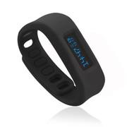 喜越 D2健康运动智能手环睡眠监测计步器安卓苹果蓝牙手镯 黑色4.0版本