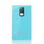 给力源 DLE-6600毫安移动电源手机充电宝双USB输出带手电筒 浅蓝色