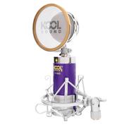 凯普仕 麦克风电脑k歌主播专用话筒 声卡录音设备 紫色