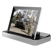 ipega 【京东配送】三星 小米 手机音响底座 iPhone6 iPad充电音箱平板 银色