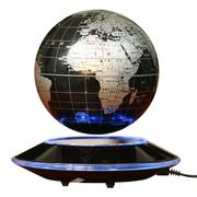 生活演绎 6寸大磁悬浮地球仪负离子发光自转家居装饰摆件 精美高档礼品 银色