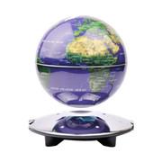 生活演绎 高档6寸LED灯发光自转磁悬浮地球仪 办公室摆件居家装饰 蓝色