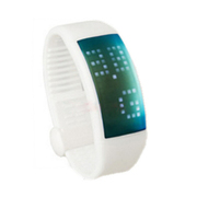 喜越 D1便携U盘时尚智能手环计步器情侣手表手镯 红色