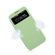 斯波兰 三星Note3 S4 S5手机无线充电智能视窗皮套保护套 休眠芯片 黑色白色米色 S4白色