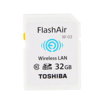 东芝 FlashAir Wireless LAN model W-03 32GB SD-R032GR7AL03A产品图片主图