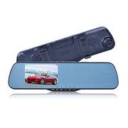 E路航 -T88高清双镜头4.3英寸大广角夜视倒 赠送降压线+读卡器. 双摄像头+32G+停车监控