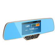 豪捷 E5车载三合一行车记录仪高清安卓迷你行车记录仪电子狗测速一体机 标配+32G卡