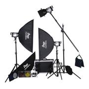 影光王 专业影棚三灯套装 外拍灯柔光箱专业摄影器材 三灯400W套装