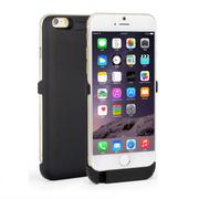 SENBOWE 苹果6背夹式电池 移动电源 备用充电宝 iPhone6手机壳支架 智能充电 4.7寸黑色