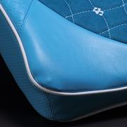 搜酷 汽车用 车载太空记忆棉 慢回弹腰枕靠垫 腰靠垫小枕头 腰靠-睿智蓝 一对装