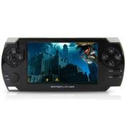 小霸王 掌机PSP游戏机68 4.3寸触屏街机学习游戏双系统内置9000款游戏 可下载MP5 黑色 标配8G版本+16G卡