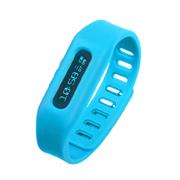YEMEKE 智能运动手环计步器OLED隐形显示 手表 来电提醒 减肥瘦身神器 防丢跟踪 蓝色