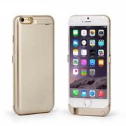 SENBOWE 苹果6背夹式电池 移动电源 备用充电宝 iPhone6手机壳支架 智能充电 4.7寸土豪金