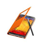 斯波兰 三星Note3 S4 S5手机无线充电智能视窗皮套保护套 休眠芯片 黑色白色米色 NOTE3黑色