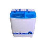 扬子 82-718S 8.2公斤双筒波轮半自动 双桶双缸洗衣机 顶盖蓝(白色)