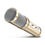 艾铭 手机唱吧麦克风 电脑K歌专用电容麦克风  随身话筒 土豪金