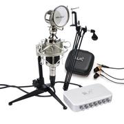 魅声 T8-2笔记本麦克风电脑k歌唱吧专用usb独立声卡电容麦套装