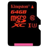 金士顿 64GB UHS-I U3 Class10 TF(Micro SD)高速存储卡(读速90Mb/s 写入80Mb/s)