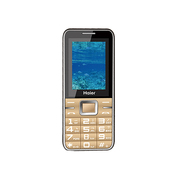 海尔 M201 移动联通2G老人手机(金色)