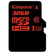 金士顿 32GB UHS-I U3 Class10 TF(Micro SD)高速存储卡(读速90Mb/s 写入80Mb/s)