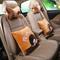 石家垫 2015款汽车抱枕靠枕 刺绣抱枕头枕腰垫汽车内饰用品 蒙奇奇 橙咖色产品图片2