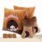石家垫 2015款汽车抱枕靠枕 刺绣抱枕头枕腰垫汽车内饰用品 蒙奇奇 橙咖色产品图片3