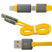水草人 手机加长安卓苹果二合一usb数据线充电线适用于苹果5/6三星华为中兴小米OPPO 0011-3