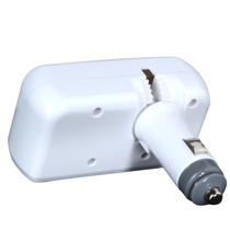 慈百佳 【货到付款】舜威 车载点烟器一分二 一拖二充电器扩展转换插座带USB 白色产品图片主图