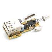 万鸿瑞 车载充电器  3A手机汽车点烟器车充 万能双USB 黑色+22CM一拖三线